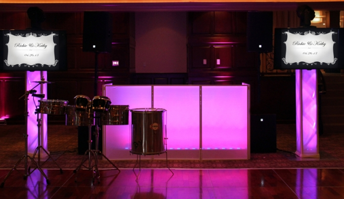Customize our DJ booth to reflect your personal style.